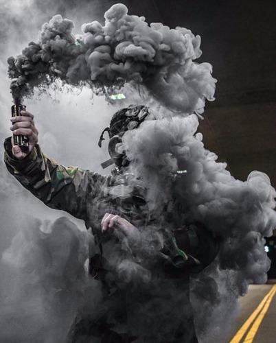 smoke granade black para paintball gotcha granada humo