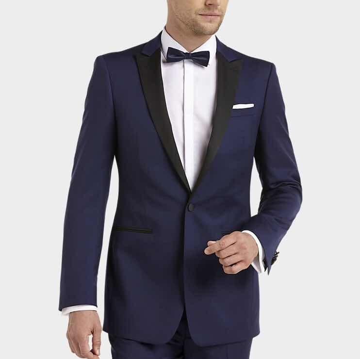 50-70% di sconto comprando ora nessuna tassa di vendita Smoking Calvin Klein Blue Slim Fit Con Camisa Chaleco Y Moño ...