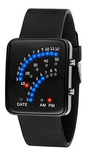 smtsmt mujer hombre futurista estilo japonés reloj