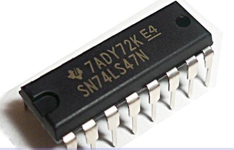 sn74ls47n -  controlador / decodificador bcd a 7 segmentos