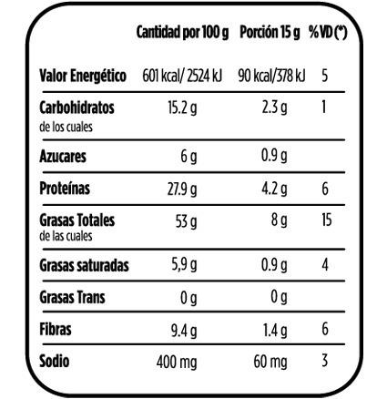 snack maní tostado salado semix 120grs x 12un