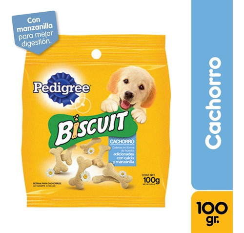 snack perro pedigree mini biscuit 100g - kg a $7000
