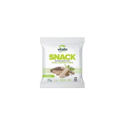 snack salgado de ervas finas e chia sem glúten vitalin displ