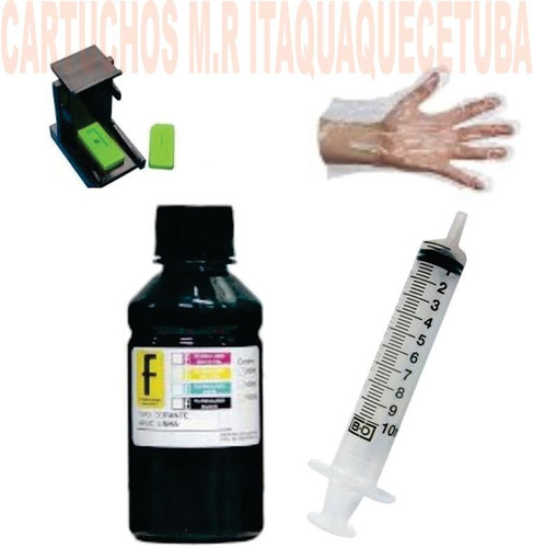 snap fill + 100ml tinta cartucho hp 122 662 664 60 61 xl