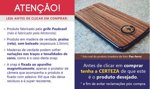 snap sticker back style shell moto z2 play madeira pau-ferro