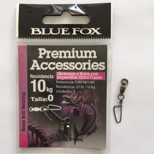 snap/destorcedor ext. fuerte para pesca blue fox 10kg 3 pzas
