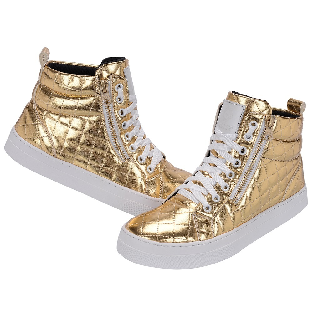 4a27572b5 sneaker de couro bota skate zíper feminina casual selten b2. Carregando  zoom.