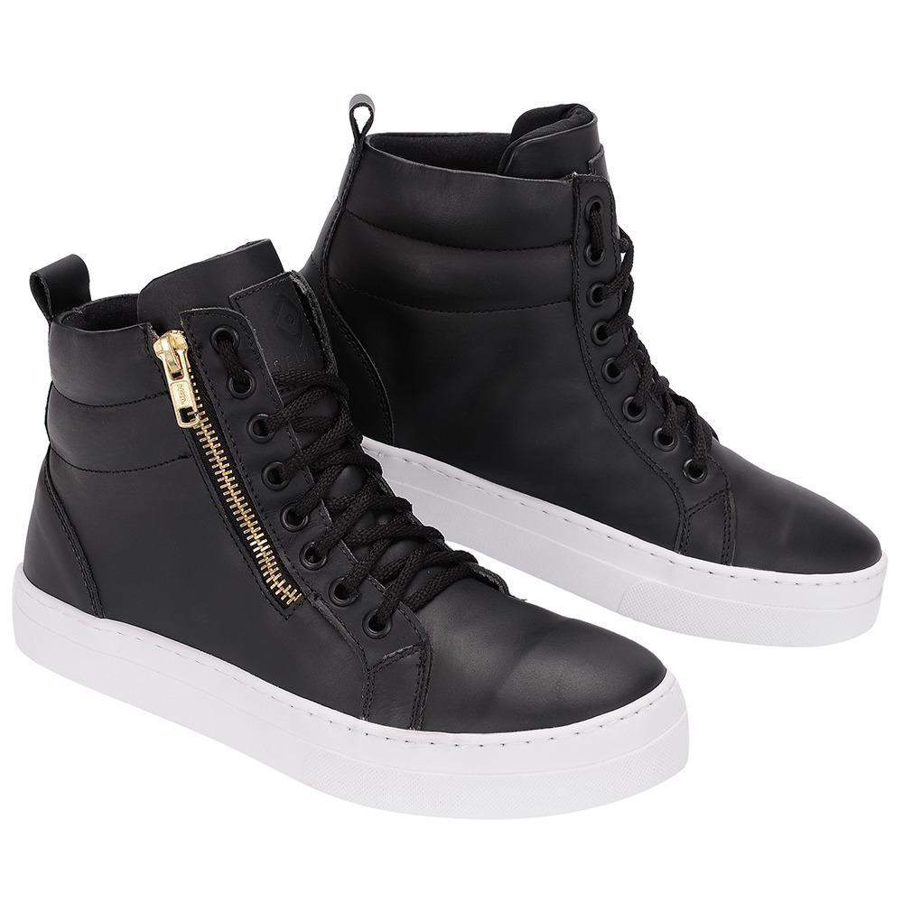 2e4152be50 sneaker de couro bota skate zíper feminina casual selten b2. Carregando zoom .