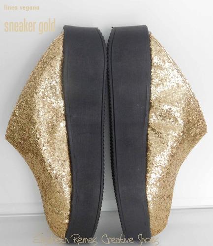 sneaker gold linea vegana by elisabeth remes