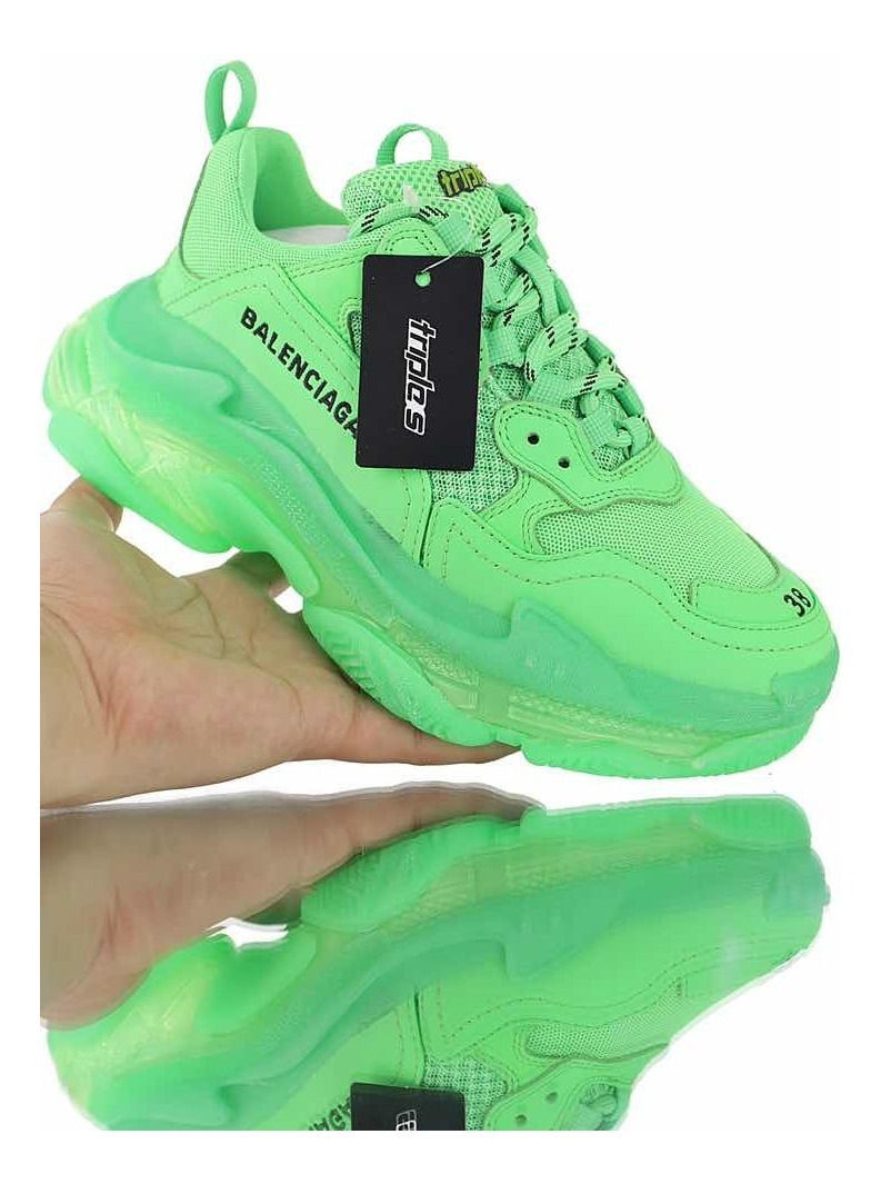 Balenciaga Triple S low top trainers $850 liked on Polyvore