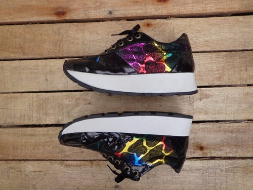sneakers mujer cuero zapatillas zapatos plataforma 2017