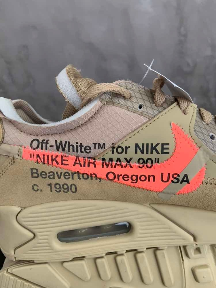 Sneakers Originales Air Max 90 Off White Desert Ore Original