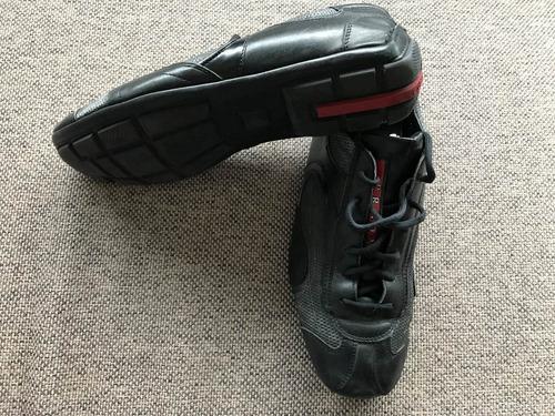 sneakers prada gris/negro