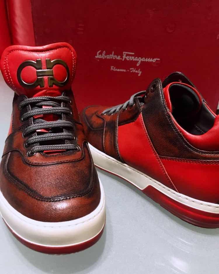Sneakers Salvatore Ferragamo Tenis Piel -   5,999.00 en Mercado Libre ac45e3b990
