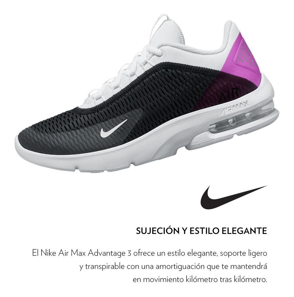 Sneakers Tenis Nike Air Max Advantage 3 Black Dama Running 2019