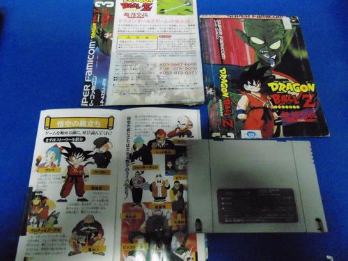 snes - dragon ball z c/ encarte e manual original - snes