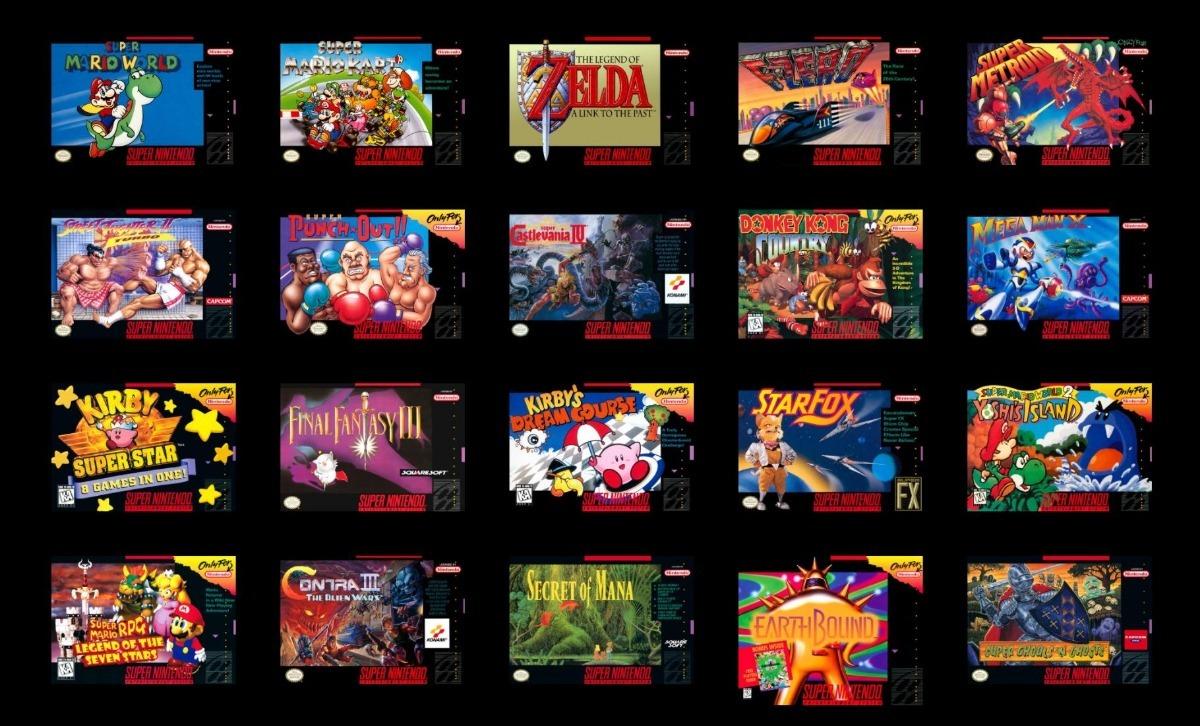 Snes Mini Classic 225 Juegos Nueva Mathogamestore 104 990