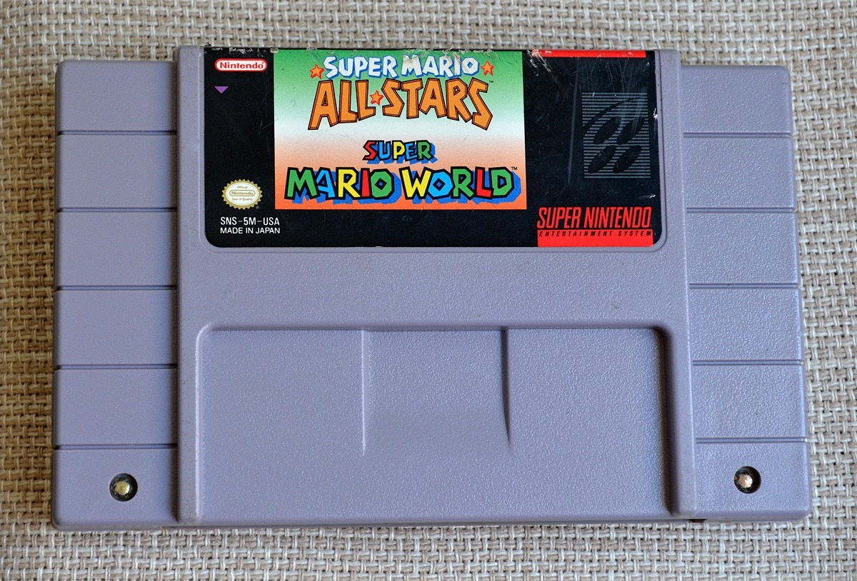 Snes Super Mario All Stars + Super Mario World Original Veja