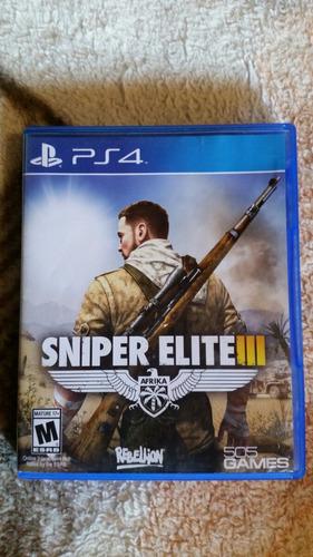 sniper  elite  3 juego de play 4