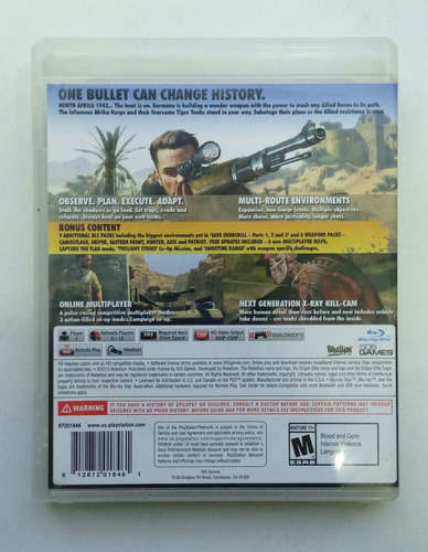 sniper elite 3 ultimate edition play station ps3!! :)