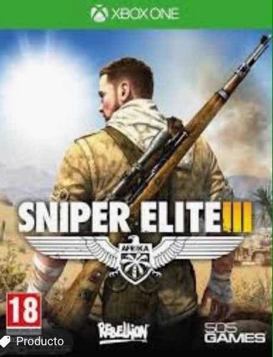 sniper elite 3 x box one usado