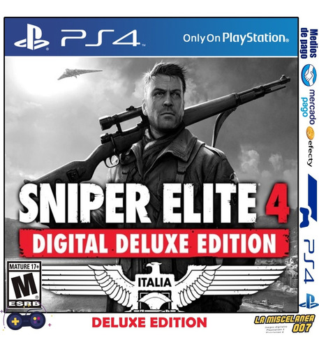 sniper elite 4 deluxe edition ps4 digital | cupo principal