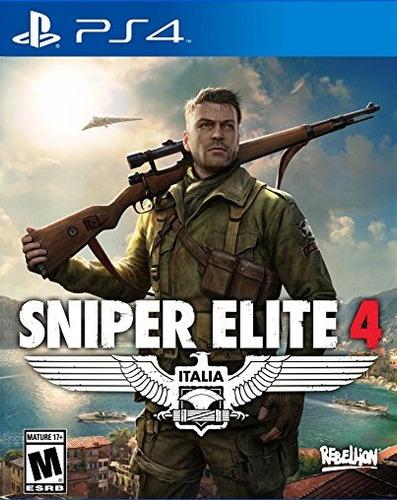 sniper elite 4 ps4 formato fisico juego playstation 4