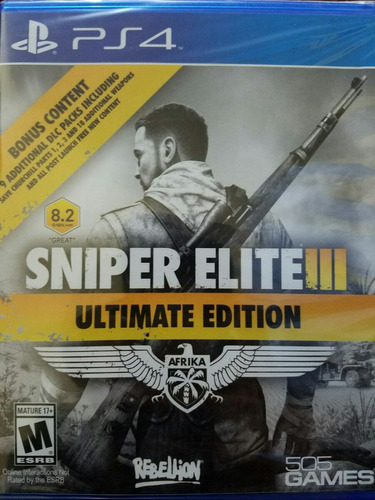 sniper elite iii - 3 ps4 ultimate edition delivery stock ya