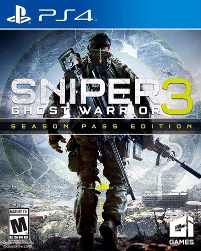 sniper ghost warrior 3 season pass edition ps4 nuevo sellado
