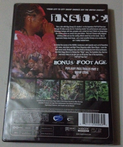 snoop dogg puff puff pass tour dvd nuevo importado usa