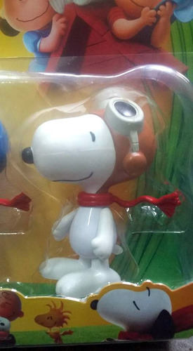snoopy & charlie brown muñecos x5 articulad gdes + woodstock