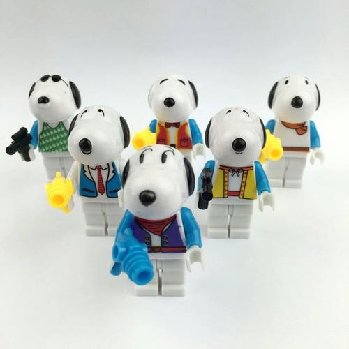 snoopy kit festa 6 bonecos de montar decoração aniversários