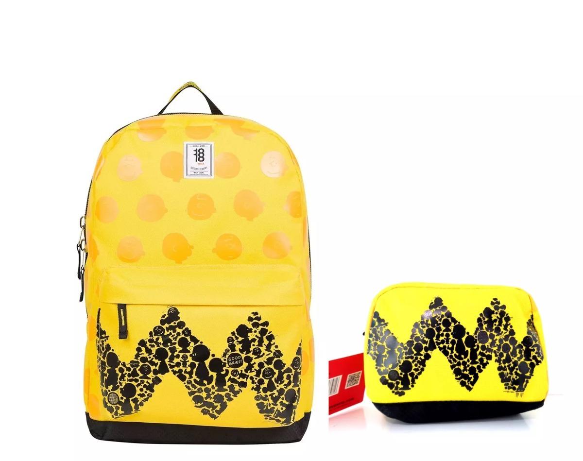 21a716a70a6a9 Snoopy mochila backpack charlie brown porta laptop estuche cargando zoom  jpg 1200x949 Charlie brown backpack