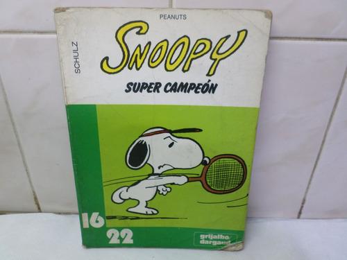 snoopy super campeon peanuts schulz 1980