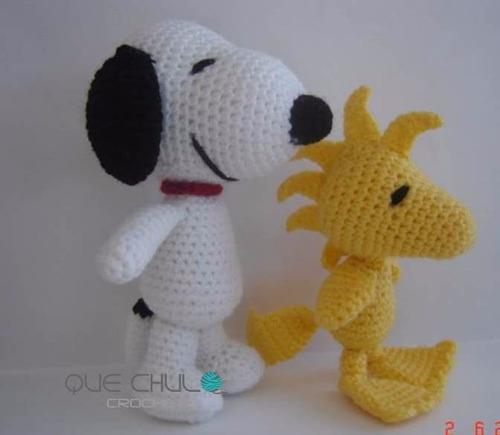Snoopy, Woodstock, Zully Muneco Tejido Amigurumi - USD 200 ...
