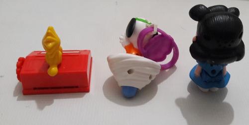 snoopy  y sus amigos mcdonalds set 3 piezas
