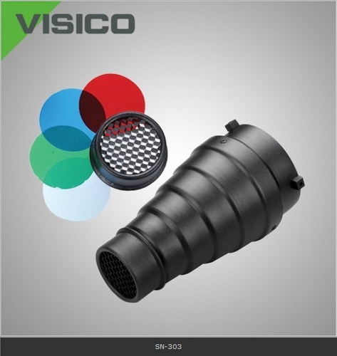 snoot visico sn303 filtro color iluminación flash p/ bowens