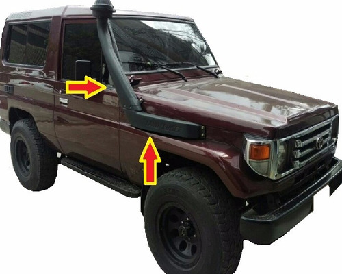 snorkel anfibio toyota 4.5 land cruiser care vaca machito
