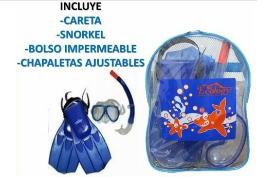 snorkel ecology o careta para debajo del agua