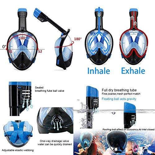 snorkel mask 180 ° vista para adultos y jóvenes. diseño de