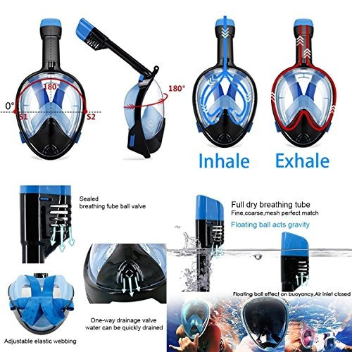snorkel mask green s / m