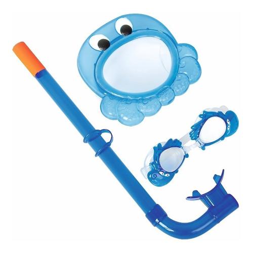 snorkel para chicos bestway con gafas infantil (+3 años)