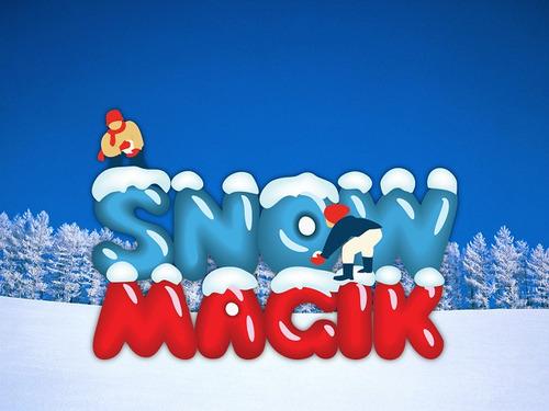 snowmagik, es nieve artificial 100% real - 500 gms