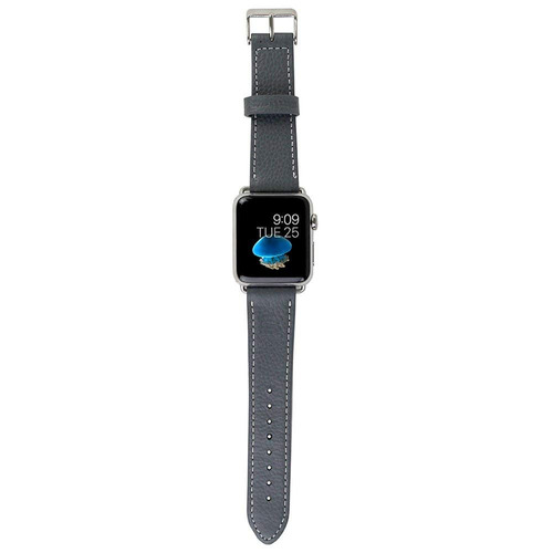 snugg manzana reloj correa cuero genuino con gris - 38 mm co