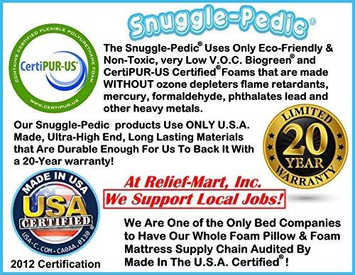 snuggle-pedic ultra-luxury bambú shredded memory foam