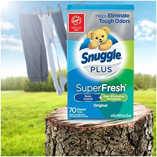 snuggle plus super fresh fabric suavizante secador hojas con