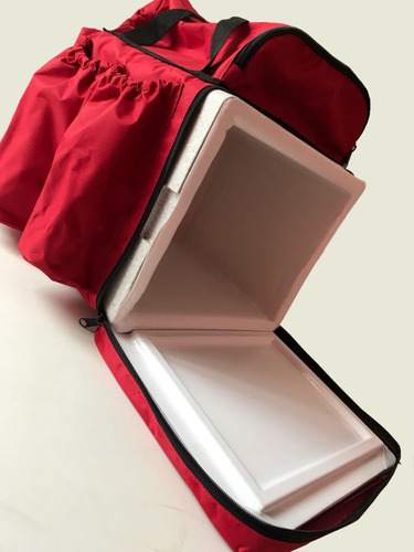só a capa mochila ifood delivery motoboy 44 litros vermelha