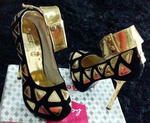 só hoje sapato peep toe feminino importado pronta entrega