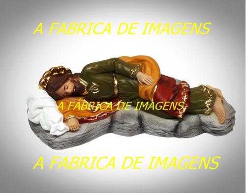 são josé dormindo 3 imagem 20cm estatua gesso não é da china