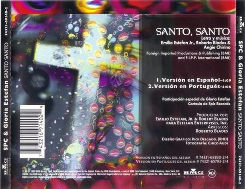 so pra contrariar & gloria estefan - santo santo cd single